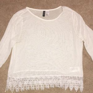 White womens sweater from H&M.